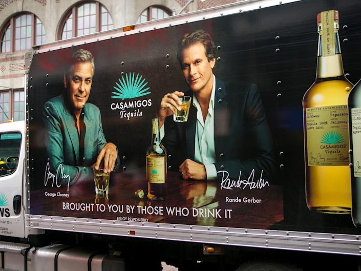 Casamigos truck featuring George Clooney and Rande Gerber