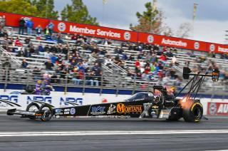 Austin Prock reached the finals in Top Fuel this past Sunday at the NHRA season-opening Winternationals. Photo: Ron Lewis.