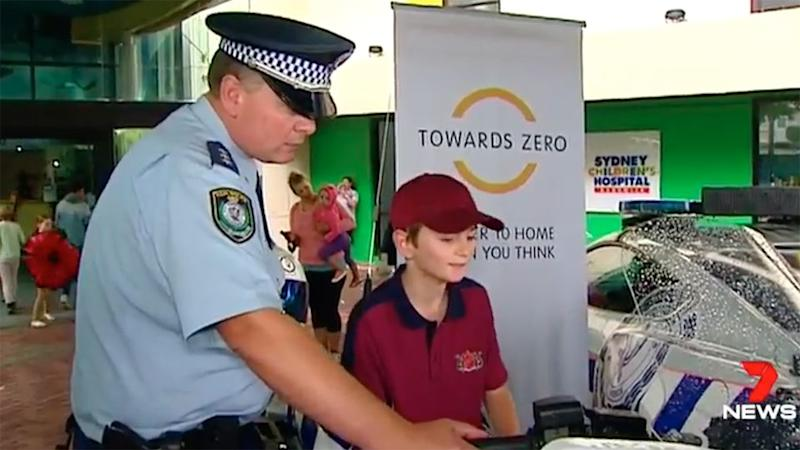 Jake remarkably survived his collision but now wanted to use his experience to warn motorists to slow down. Source: 7 News