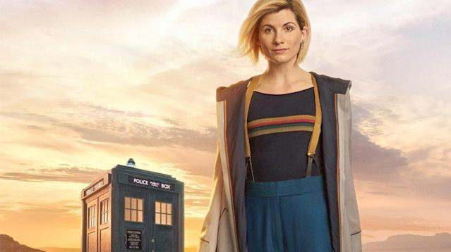 "On Thursday, the BBC shared a photo of Jodie Whittaker in ""Doctor Who"" in her first showing as the Doctor."