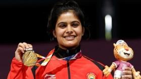 Manu Bhaker creates a world record after clinching gold in ISSF World Cup Final