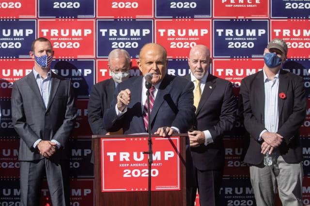 Trump Campaign Lawyers Hold News Conference In Philadelphia