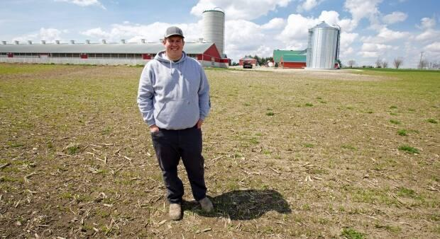 Brett Israel's family farm in Wallenstein, Ont., rotates through 20 different types of crops and has reduced tillage to help keep the soil healthy.