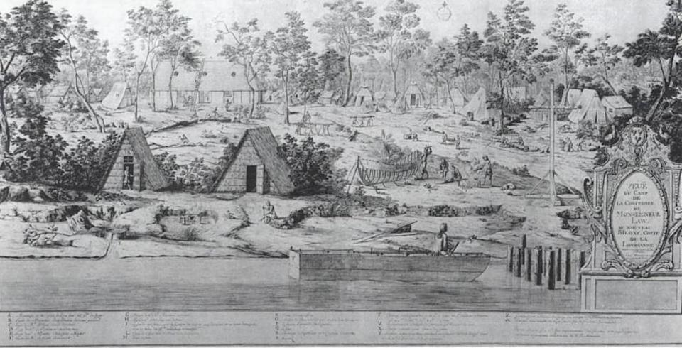 <b>2. The Mississippi Company in 1720</b><br> <b>Value then</b>: 300 million British Pounds // <b>Adjusted to 2012 dollars</b>: U.S. $6 trillion <br><br> <b>HOW IT GOT SO BIG</b>: The Mississippi Company was founded in 1684 to facilitate trade with the then-New World. By 1717, it was foundering, and was bought up by John Law, controller of the French National Bank, who renamed it the Compagnie d'Occident and refocused it on monopolizing trade with emerging French colonies in Louisiana and North America. Rampant land value speculation drove its stock up twentyfold. <br><br> <b>WHAT HAPPENED</b>: What goes up must come down. When the real estate bubble burst, in 1720, the Mississippi Company collapsed. The company declared bankruptcy after the French government declared its shares worthless.<br><br> <b>VALUE TODAY</b>: nil<br><br>Image: Wikimedia Commons