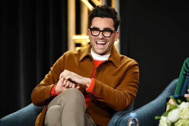 Dan Levy, pictured here in January 2020, made several references to Schitt's Creek during his opening monologue on Saturday Night Live.