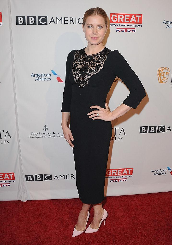 Amy Adams at the BAFTA tea party earlier on Saturday (Photo: Getty Images)