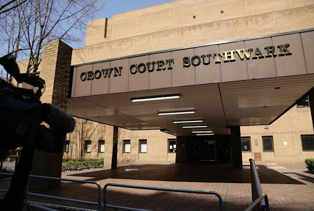 An exterior view of Southwark Crown Court in London.