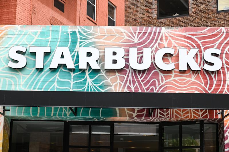 NEW YORK, NEW YORK - MAY 19: Starbucks is open for mobile pickup during the COVID-19 pandemic on May 19, 2020 in New York City. COVID-19 has spread to most countries around the world, claiming over 323,000 lives with infections of over 4.9 million people. (Photo by Ben Gabbe/Getty Images)