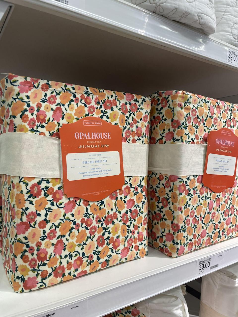 <p>I have major heart eyes for this beautiful <span>Opalhouse x Jungalow Printed Cotton Percale Sheet Set</span> ($59) - the floral print would instantly elevate my simple velvet bedspread. Wait until you see them in real life; they're just as beautiful.</p>
