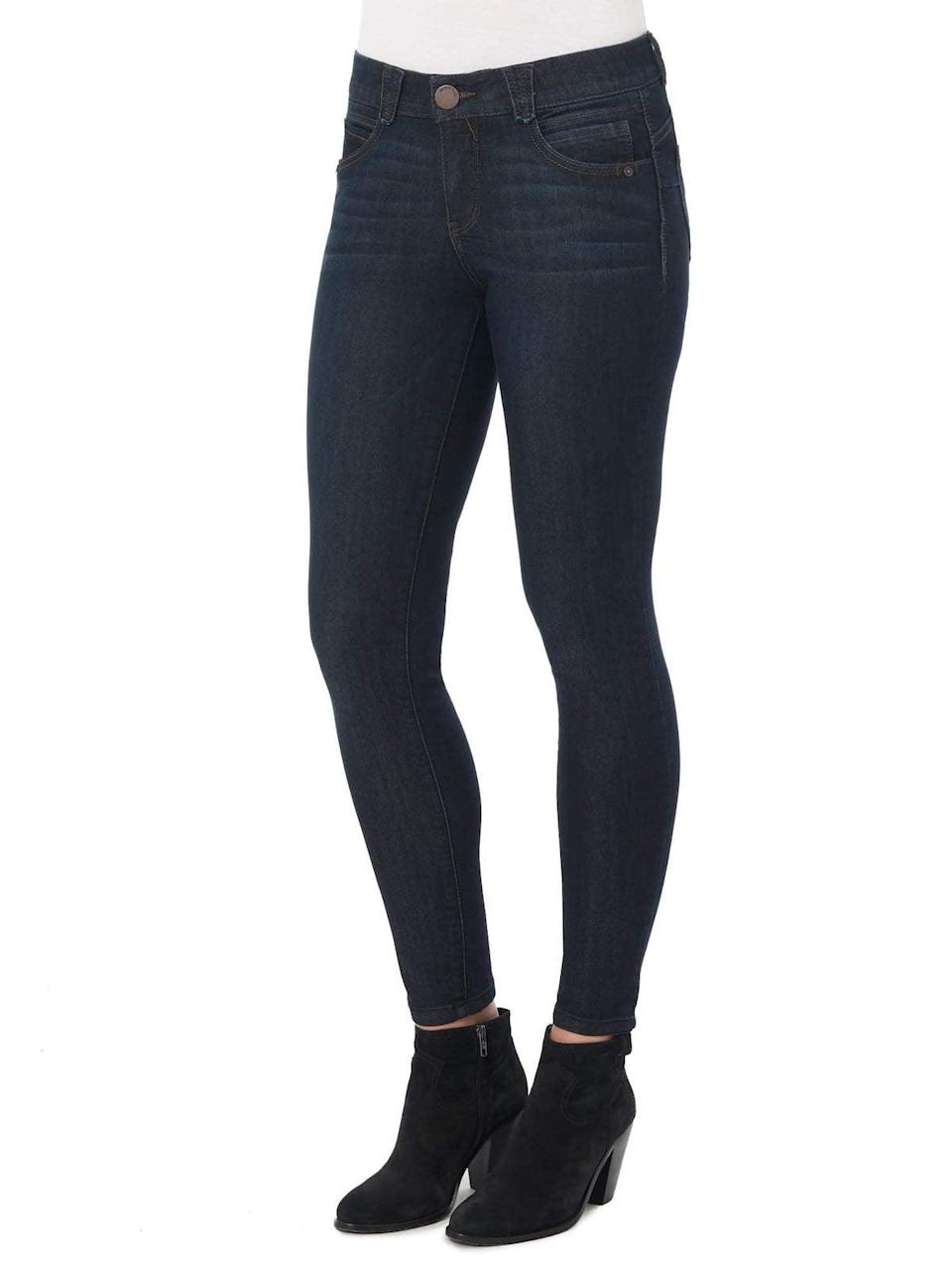 """<p>""""The waist band on these <span>Democracy Clothing """"Ab""""solution Petite Jeggings</span> ($68) is lined with elastic so it feels form fitting but its not restrictive and tight. I always wear these jeans when I know I'm going to eat a lot because the waist band is there; they're my Thanksgiving pants!"""" - Anvita Reddy, editorial coordinator, Shop</p>"""