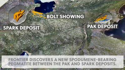 PAK, Bolt and Spark on Frontier Lithium's Project (CNW Group/Frontier Lithium Inc.)