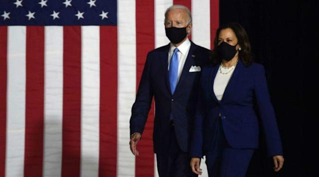 President Elect Joe Biden Vice President Elect Kamala Harris Tweets Flagged By Twitter As Us Presidential Election Results 2020 Remain Unclear