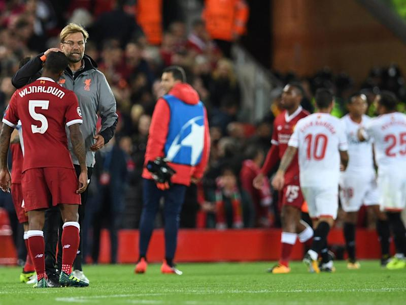 Klopp is already counting the cost of Liverpool's 2-2 draw against Sevilla (Getty)