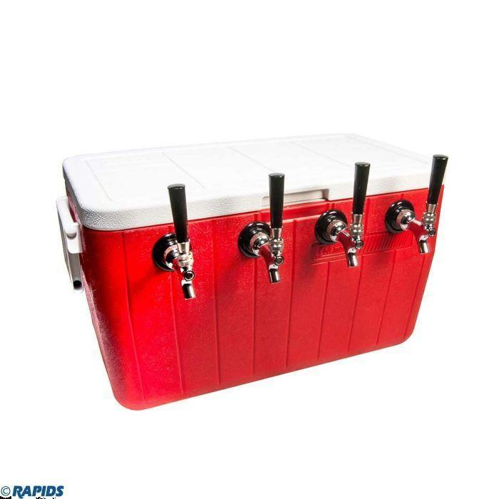 """<p>rapidswholesale.com</p><p><strong>$572.16</strong></p><p><a href=""""https://rapidswholesale.com/cold-plate-beer-coil-cooler.html"""" rel=""""nofollow noopener"""" target=""""_blank"""" data-ylk=""""slk:BUY NOW"""" class=""""link rapid-noclick-resp"""">BUY NOW</a></p><p>This cooler comes with four taps so you can dispense four different beers of your choosing. To ensure your brew is cold, there's a cold plate chiller that works by chilling the beer on its way to the beer faucets.</p>"""
