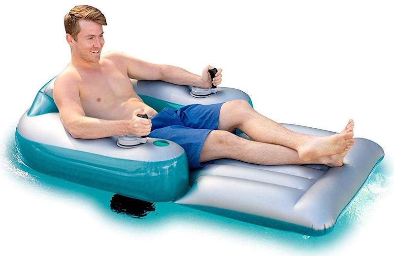 Poolcandy Splash Runner Motorized Inflatable Swimming Pool Lounger (Photo: Amazon)