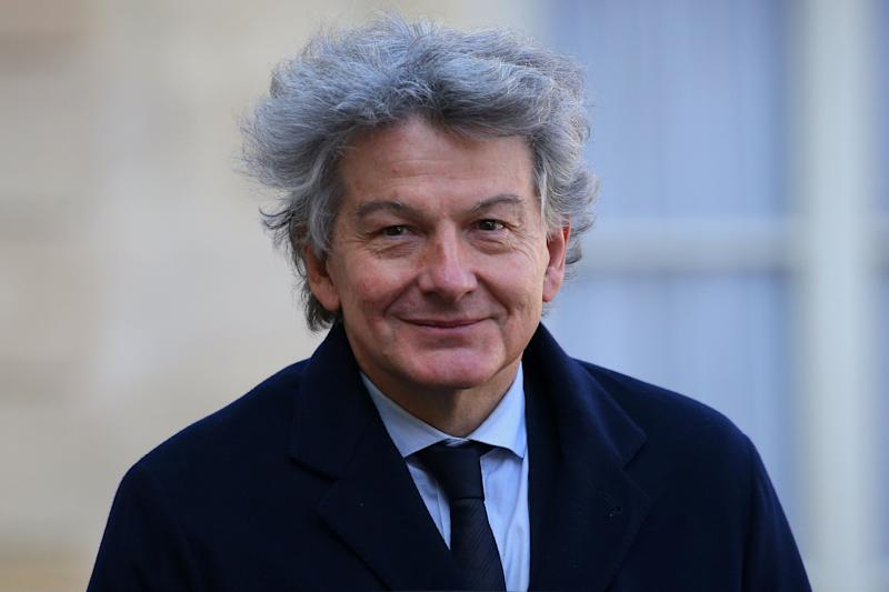 Atos Chairman and CEO Thierry Breton arrives for a meeting at the Elysee Palace in Paris, France, February 22, 2018. REUTERS/Stephane Mahe