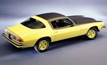 <p>In '75 the Rally Sport option became a paint-and-tape package. Flat-black paint in the 1970s was a challenge to protect. Painted bumpers were, um, well, er . . . 40 years later, they don't look so good. Little changed with the '76 model.</p>