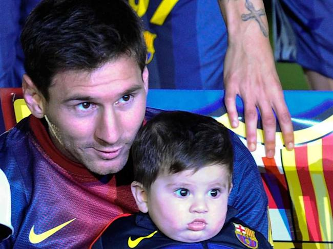 Topic, very Lionel messi son speaking