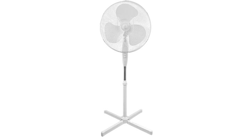Simple Value White Oscillating Pedestal Fan