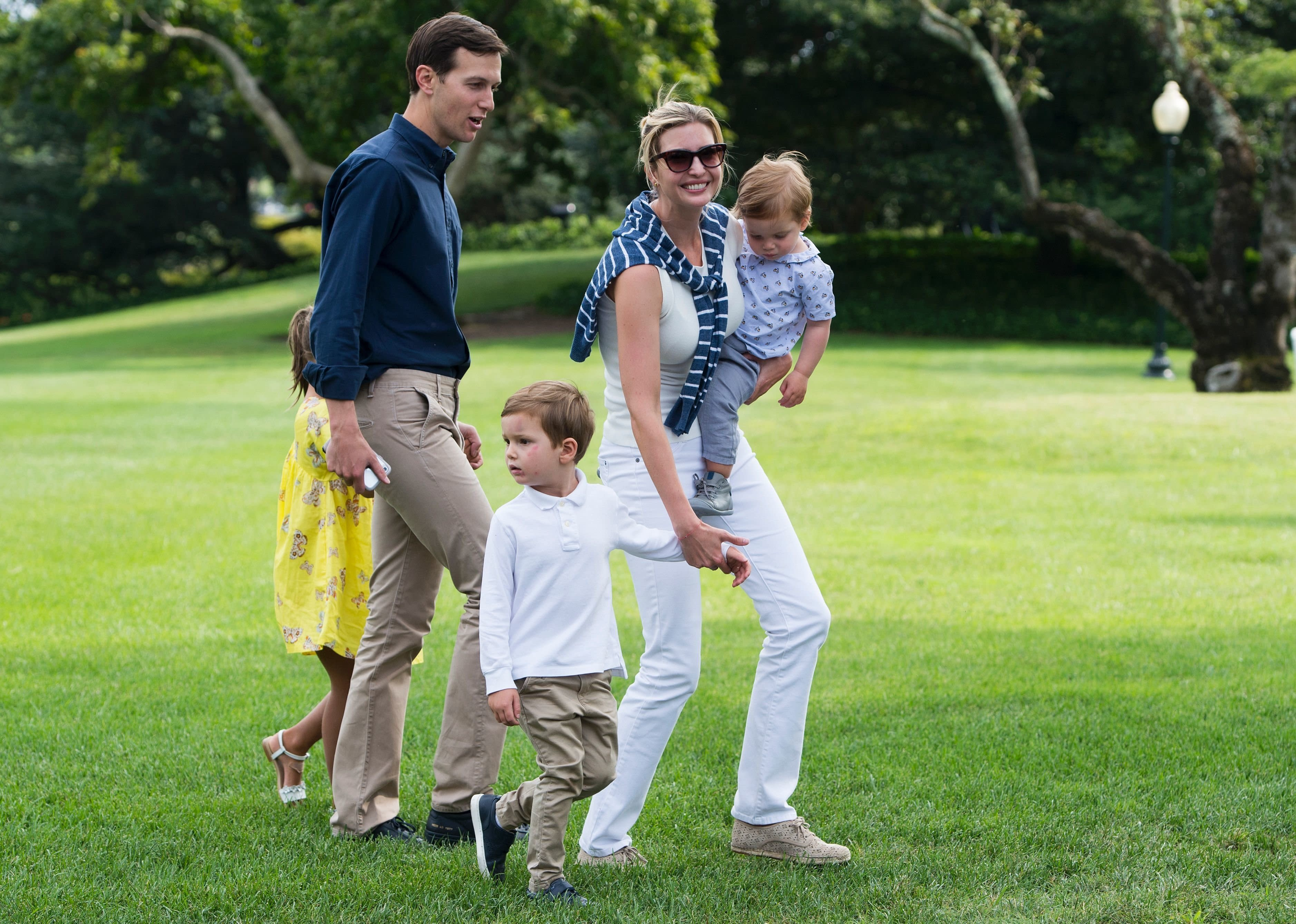 Ivanka Trump, President Donald Trump's daughter and senior adviser, married husband Jared Kushner in 2009. They have three kids: 6-year-old Arabella, 3-year-old Joseph, and 1-year-old Theodore, who was born last year in the midst of Donald Trump's presidential campaign.