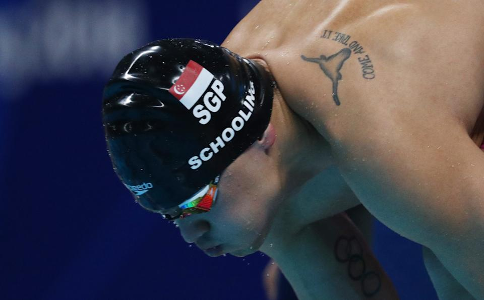 Joseph Schooling finishes fourth in 100m fly at Swimming World Cup