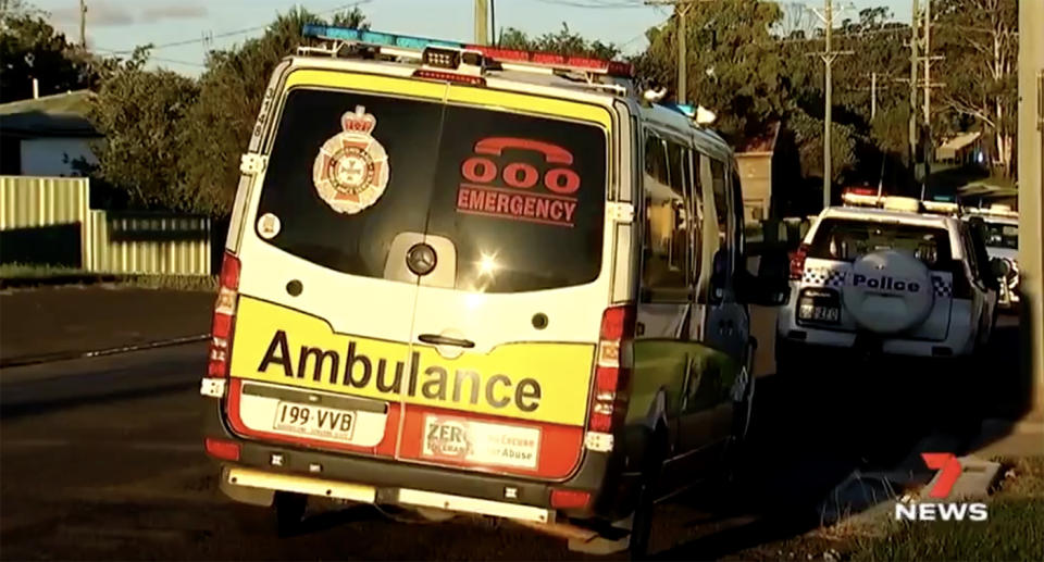 The two-year-old boy was struck by a reversing car outside his home. Source: 7News