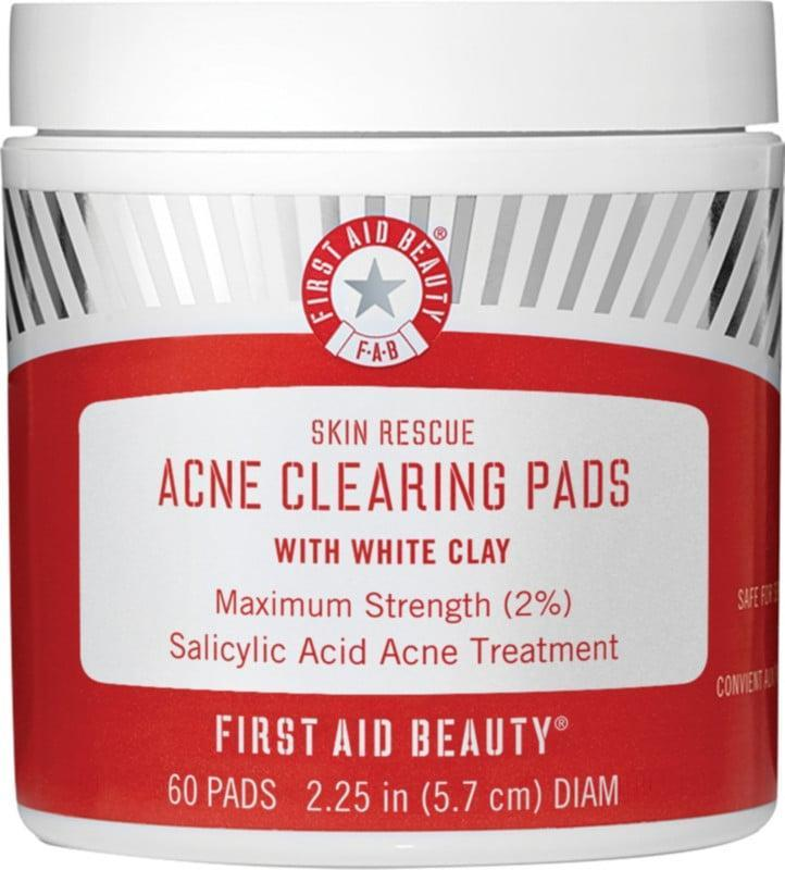 <p><span>First Aid Beauty Skin Rescue Acne Clearing Pads With White Clay</span> ($30)</p>