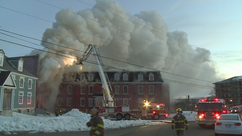Former Belvedere orphanage in ruins after St. John's fire