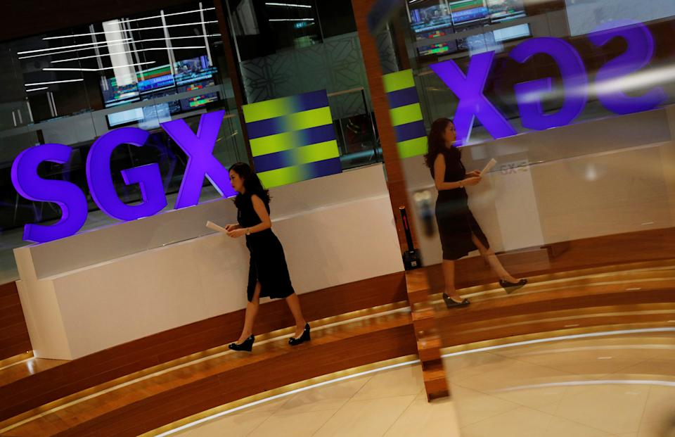 An SGX sign is pictured at Singapore's stock exchange July 19, 2017. REUTERS/Edgar Su
