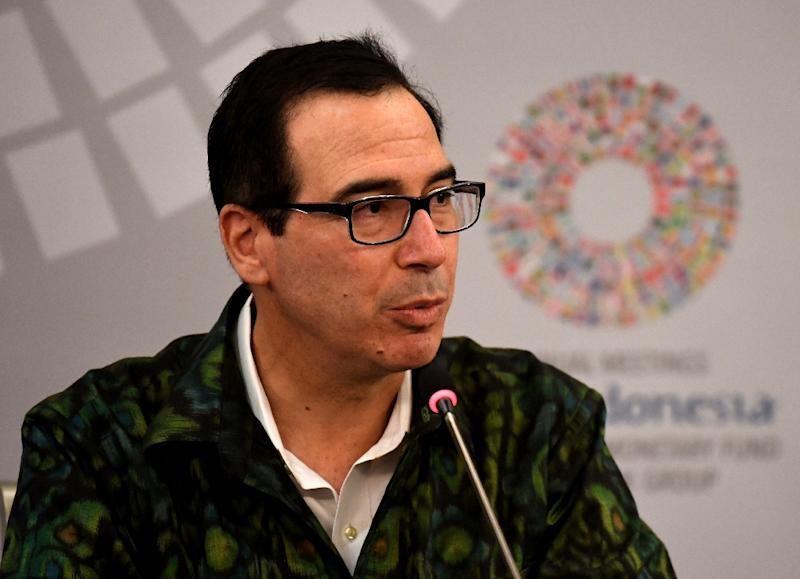 US Treasury Secretary Steven Mnuchin, seen here at recent meetings in Bali, has yet to decide if he will attend Riyadh investment conference