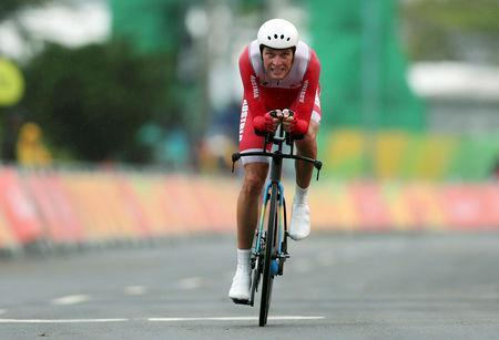 FILE PHOTO: 2016 Rio Olympics - Cycling Road - Final - Men's Individual Time Trial - Pontal - Rio de Janeiro, Brazil - 10/08/2016. Georg Preidler (AUT) of Austria competes. REUTERS/Matthew Childs