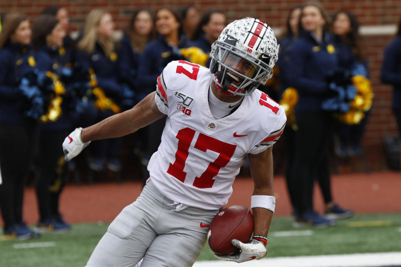 With Big Ten set to play this fall, Ohio State wide receiver Chris Olave could be the next Buckeyes star. (AP Photo/Paul Sancya)