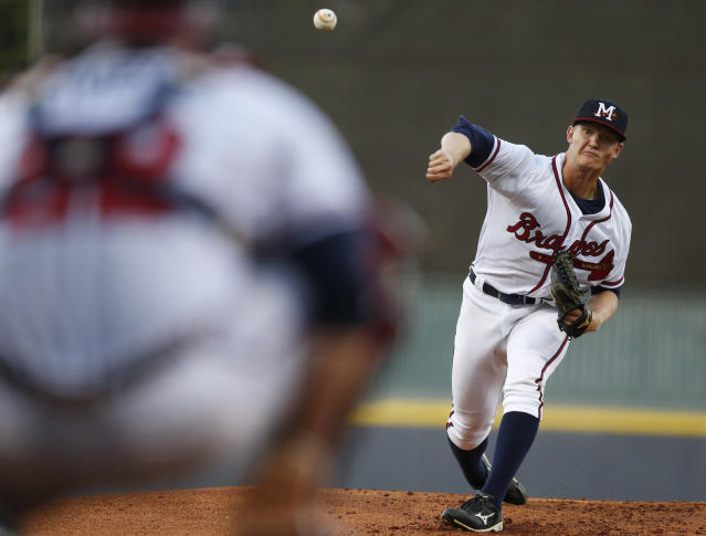 Mike Soroka was called up by the Atlanta Braves. (AP)