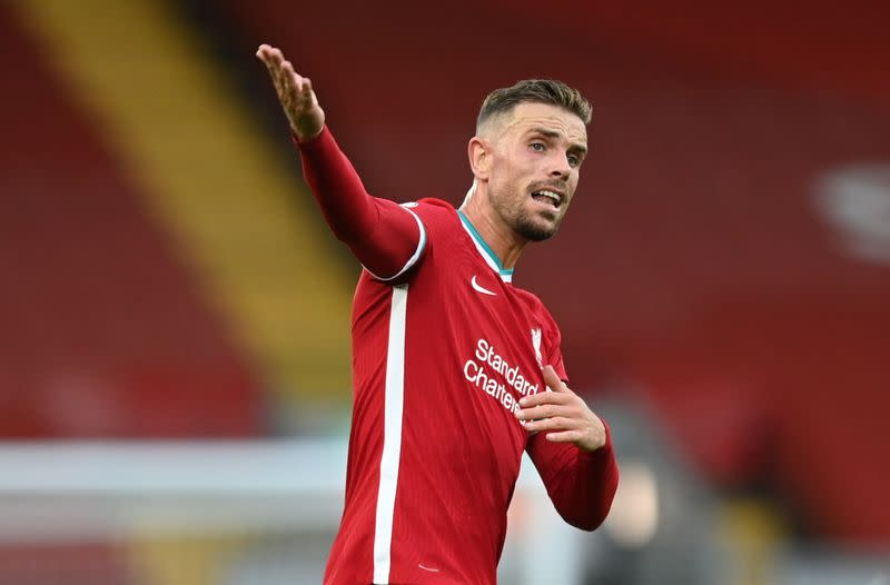 Injured Liverpool skipper Henderson to be assessed before Villa game