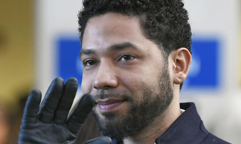 <p>On February 20, 2019, the<em> Empire</em> actor was arrested on suspicion of filing a false report regarding an alleged racist and homophobic attack he claimed to be the victim of on January 29, 2019. Chicago police claimed Smollett staged the attack and paid £2678 to two men to assault him. The Cook County District Attorney's office decided to drop the charges against the actor but the city still plans to sue Smollett for the cost of investigating his attack claims. (Credit: AP Photo/Paul Beaty, File) </p>