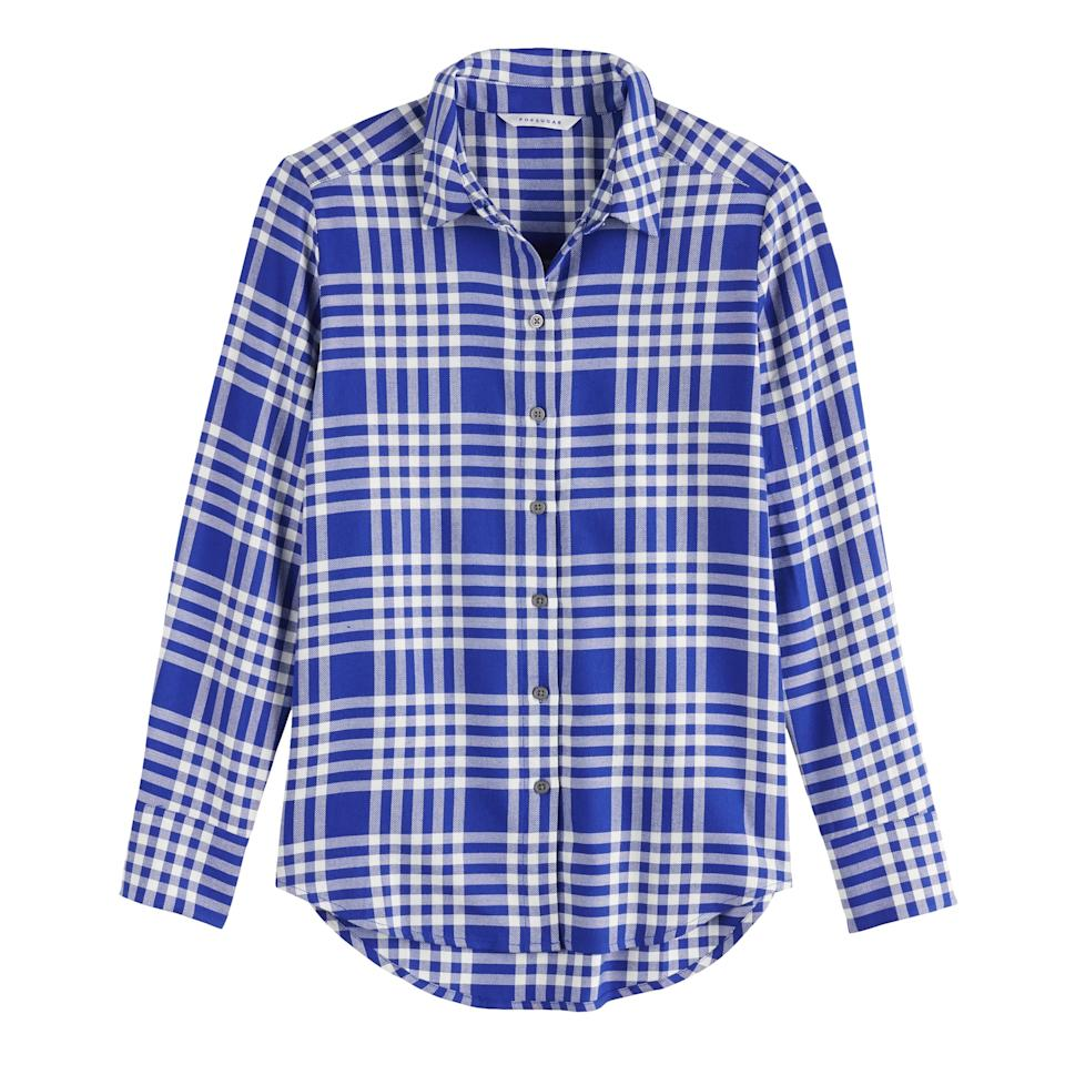 """<p>""""There's something about a flannel that immediately makes me feel more relaxed. This <a href=""""https://www.popsugar.com/buy/POPSUGAR-Essential-Button-Down-Shirt-483889?p_name=POPSUGAR%20Essential%20Button%20Down%20Shirt&retailer=kohls.com&pid=483889&price=33&evar1=fab%3Aus&evar9=46536407&evar98=https%3A%2F%2Fwww.popsugar.com%2Ffashion%2Fphoto-gallery%2F46536407%2Fimage%2F46536514%2FAffordable-Fall-Fashion-Favorite-POPSUGAR-Essential-Button-Down-Shirt&prop13=api&pdata=1"""" rel=""""nofollow"""" data-shoppable-link=""""1"""" target=""""_blank"""" class=""""ga-track"""" data-ga-category=""""Related"""" data-ga-label=""""https://www.kohls.com/product/prd-3827178/womens-popsugar-essential-button-down-shirt.jsp?color=Black%20Keepsake%20Floral&amp;prdPV=8"""" data-ga-action=""""In-Line Links"""">POPSUGAR Essential Button Down Shirt</a> ($33, originally $44) in blue plaid is the perfect Summer-to-Fall transition piece - it's lightweight enough to wear on it's own now and will look great layered under sweaters and coats later in the season."""" </p>"""