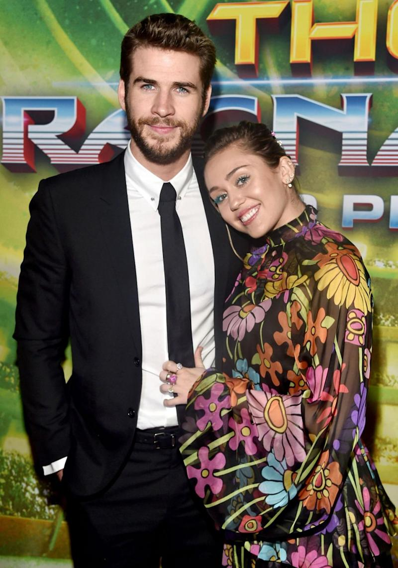 Dressed to impress and not afraid to make a statement, 24-year-old Miley wore a vibrant printed dress. Source: Getty