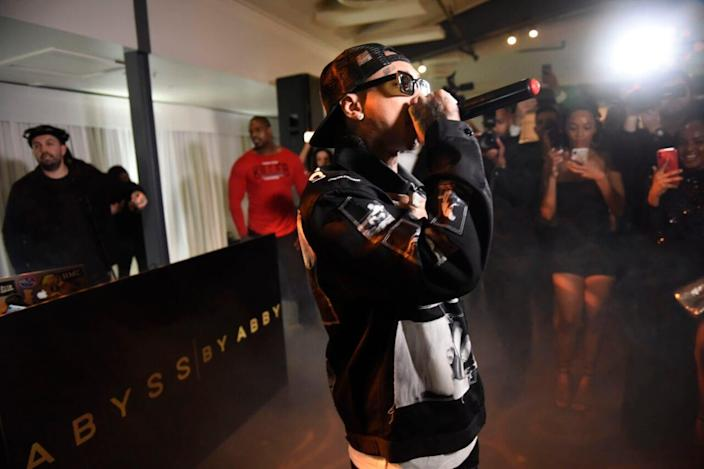 Tyga performs at Abyss By Abby – Arabian Nights Collection Launch Party at Casita Hollywood on January 21, 2020 in Los Angeles, California. (Photo by Vivien Killilea/Getty Images for Abyss By Abby)