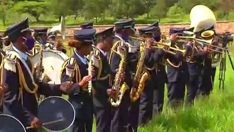 Musicians at the funeral