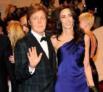 Paul McCartney and Nancy Shevell attends the 'Alexander McQueen: Savage Beauty' Costume Institute Gala at The Metropolitan Museum of Art on May 2, 2011 in New York City -- WireImage