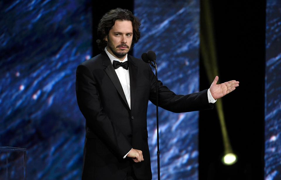 Edgar Wright presents the Charlie Chaplin award for excellence in comedy at the BAFTA Los Angeles Britannia Awards at the Beverly Hilton Hotel on Friday, Oct. 27, 2017, in Beverly Hills, Calif. (Photo by Chris Pizzello/Invision/AP)
