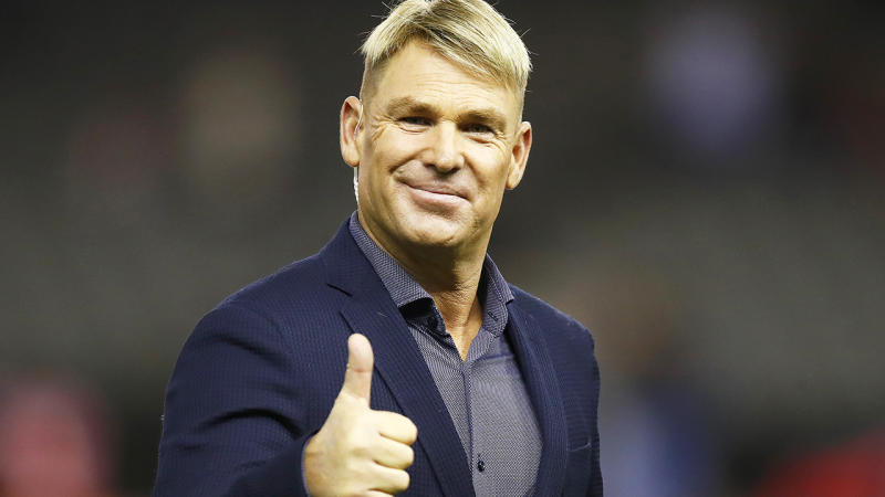Shane Warne, pictured here at the Big Bash match between the Melbourne Renegades and Melbourne Stars in January.