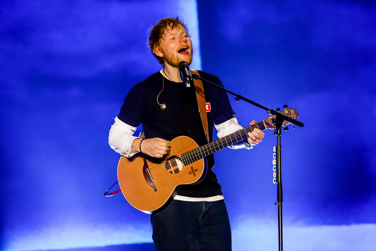 Ed Sheeran experienced a fire at his home studio. (Photo by Luigi Rizzo/Pacific Press/LightRocket via Getty Images)