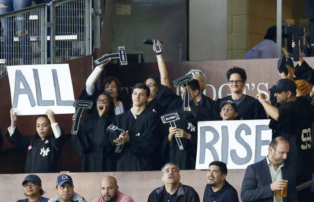 The Yankees installed The Judges' Chamber this week, a new section of seating for Aaron Judge fans. (AP)