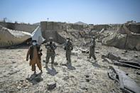 Only a heap of rubble and twisted metal remain in what was the last CIA base in Afghanistan (AFP/Aamir QURESHI)
