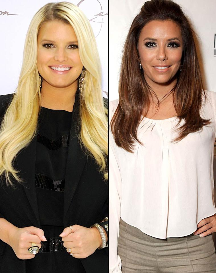 "A superstitious Eva Longoria is ""urging"" Jessica Simpson to ""change her wedding date!"" reveals <i>In Touch</i>. The mag says the now-divorced actress, who wed Tony Parker on June 7, 2007 (7-7-7), feels Simpson shouldn't marry Eric Johnson on November 11, 2011 (11-11-11), and told her to ""pick another day."" For how Simpson reacted to Longoria's strongly worded advice, and whether she's switching the wedding date, click over to <a href=""http://www.gossipcop.com/eva-longoria-jessica-simpson-wedding-date-november-11-2011-unlucky-superstitious-tony-parker/"">Gossip Cop. </a>"