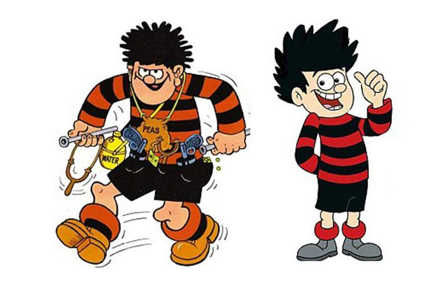 """<p>The clue is in the name: Dennis the Menace has always been a catapult-toting nuisance. Well, until now. A makeover of the famous character, who first appeared in the Beano in 1951, was given a politically correct new look to make him less of a troublemaker. A source at BBC, who reworked the cartoon, said: """"Dennis can't be seen to use weapons and giving other kids grief in a BBC cartoon."""" <i>(Credit: Beano/BBC)</i><br></p>"""