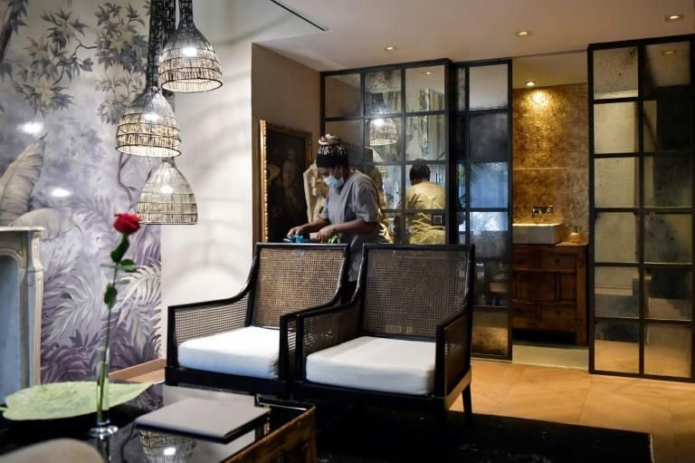 The once-bustling five-star Claris hotel is eerily quiet