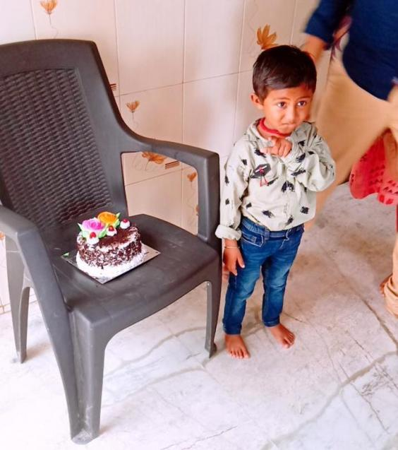 Mr Savaliya has never been able to celebrate his son's birthday with him