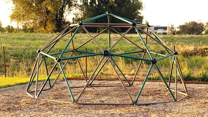 Your kids will love climbing and hanging from this sturdy backyard climbing dome.